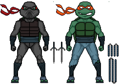 Micro Raphael And Michelangelo by FRM5993