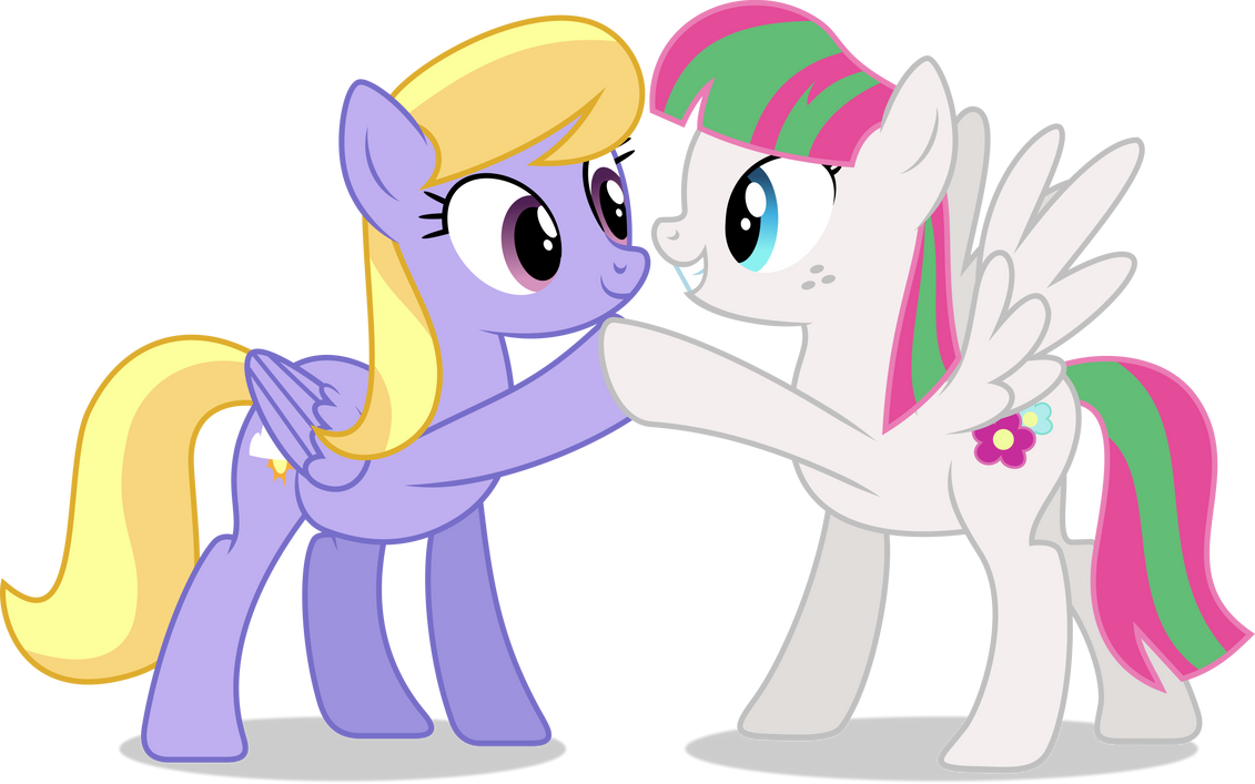 MLP Vector - Cloud Kicker and Blossomforth