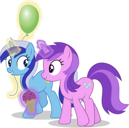 MLP Vector - Minuette and Amethyst Star