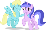MLP Vector - Sassaflash and Sea Swirl by ThatUsualGuy06