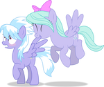 MLP Vector - Flitter and CloudChaser by ThatUsualGuy06