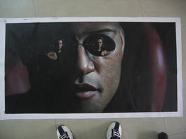 The Matrix Painted --- Morpeus by benw99