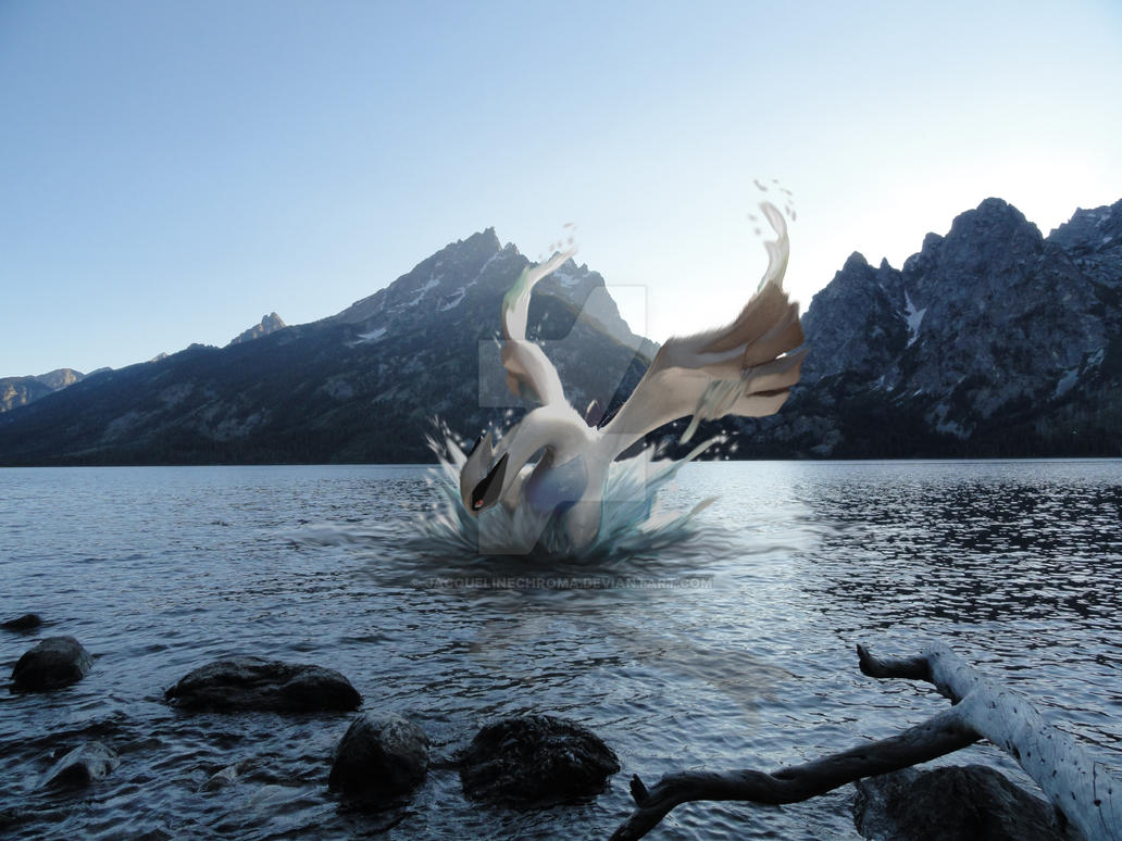 Fanart: A Wild Lugia Appears by JacquelineChroma