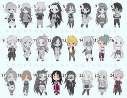 ADOPTABLE NARUTO GIRLS AND BOYS OPEN REMAINED 5!!! by Kotrosia