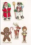Christmas Character Tags 01