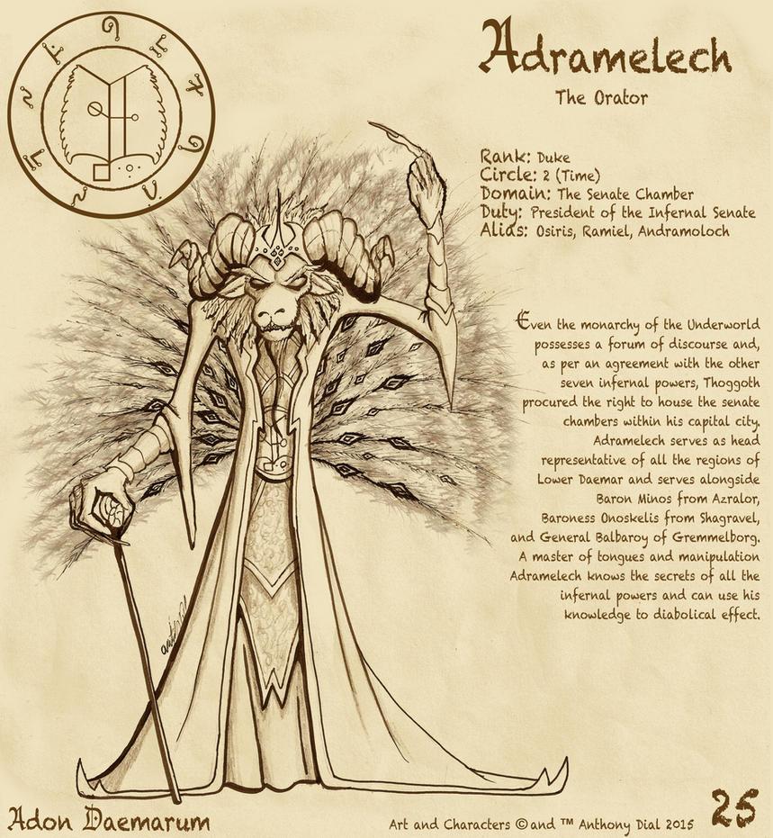 Adon Daemarum 25- Adramelech by Gummibearboy