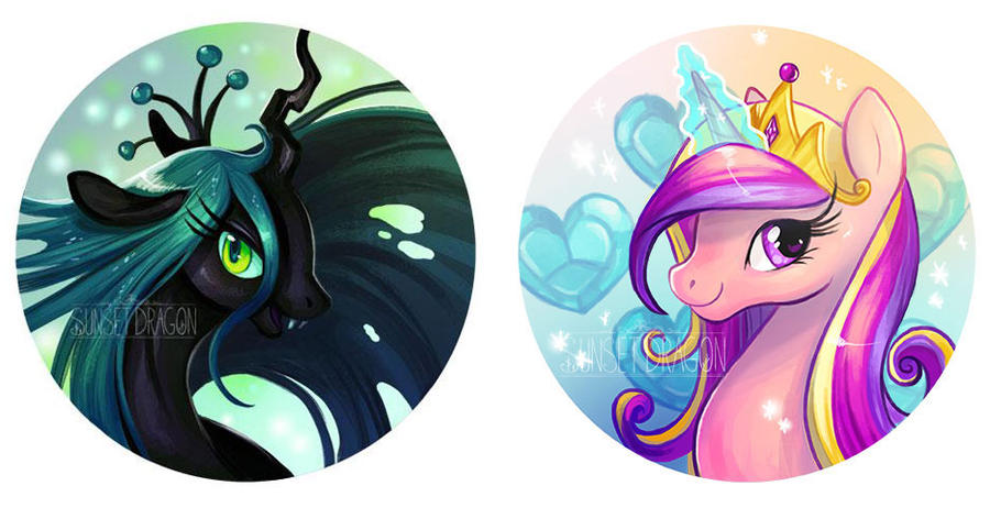 Chrysalis and Cadance by Flying-Fox