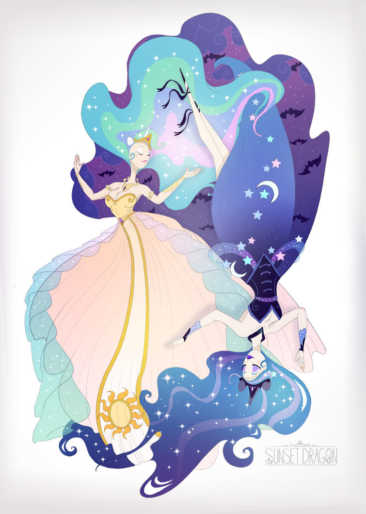 Celestia Luna By Flying Fox On Deviantart