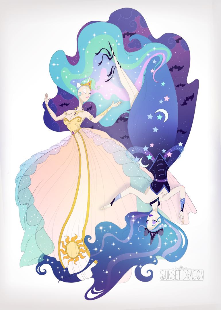 Celestia Luna by Flying-Fox