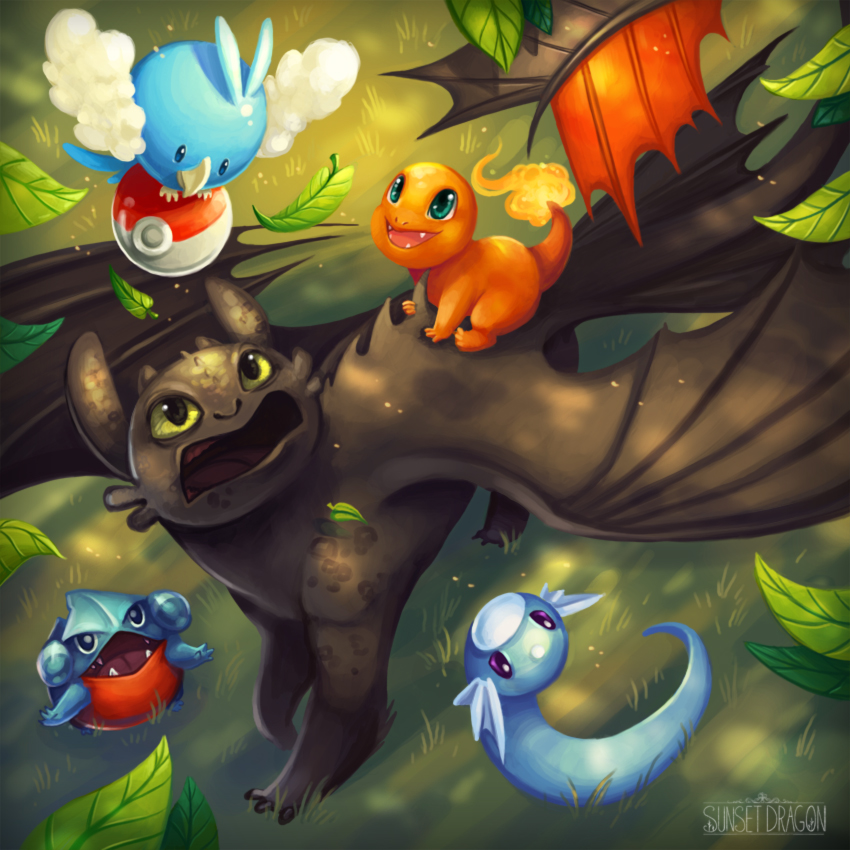 Dragon Sitting By Flying Fox On Deviantart