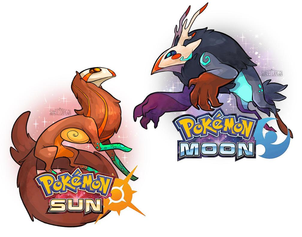 pokemon moon and pokemon sun by flying-fox on deviantart