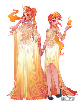 Rapidash and Ponyta Gijinka