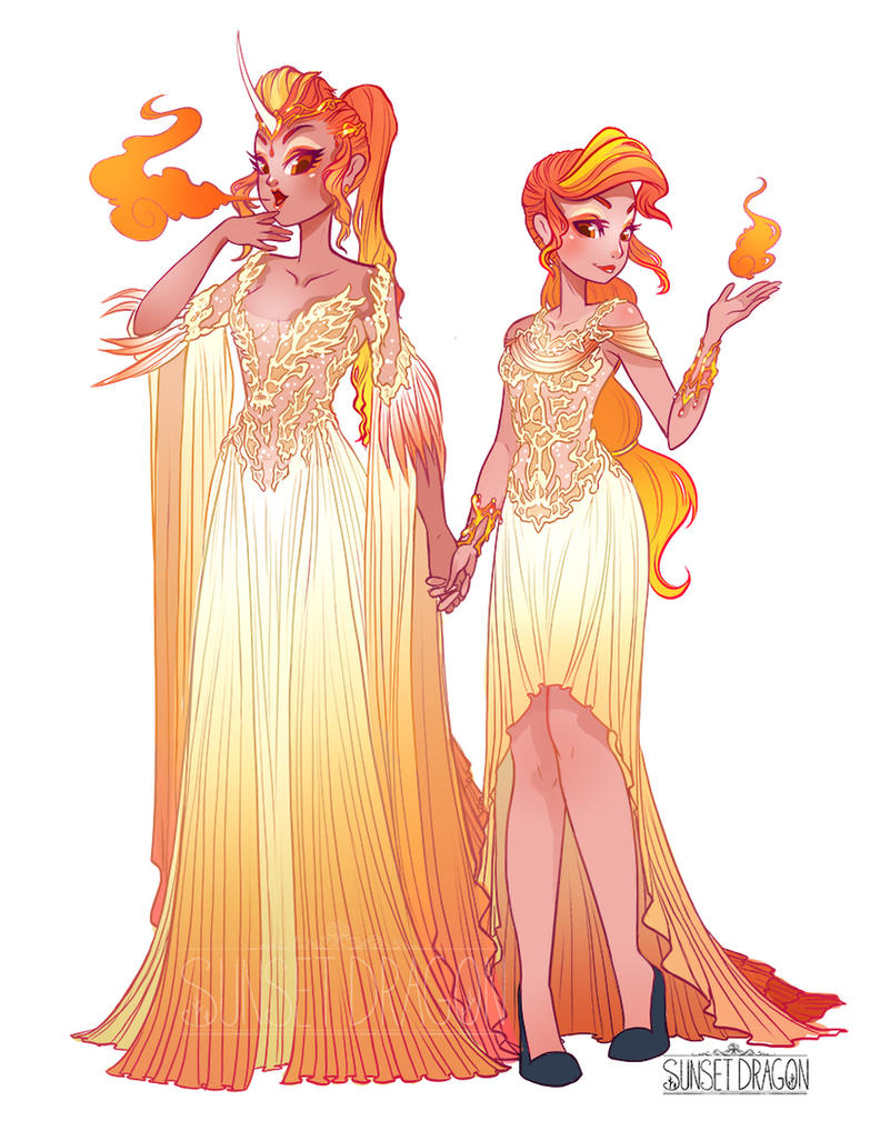 Rapidash and Ponyta Gijinka by Flying-Fox