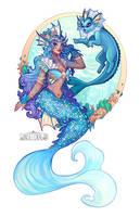 Vaporeon Mermaid by Flying-Fox