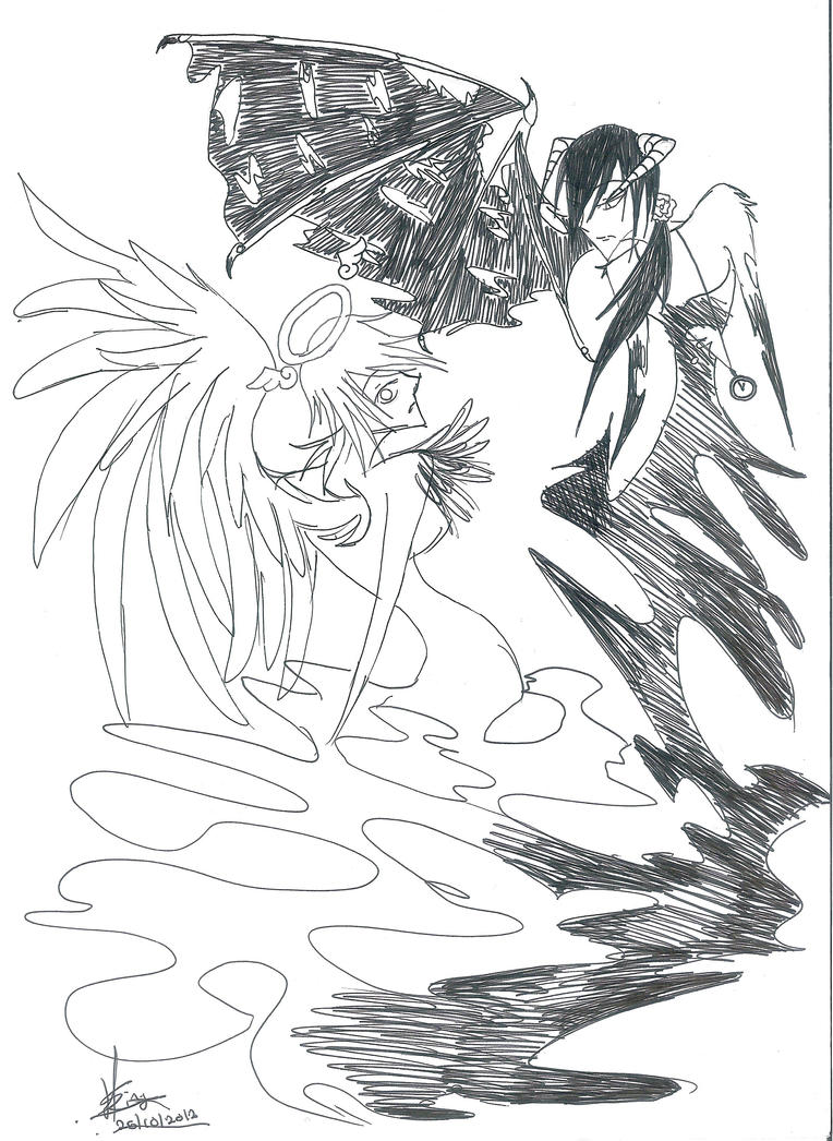 Angel and Devil by HellSiNLordZ