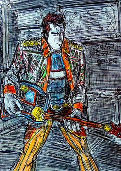 Stan testing his SynthAxe Guitar (Colored)