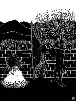 Hyrra I: a visit in the garden by PatrickHonnen