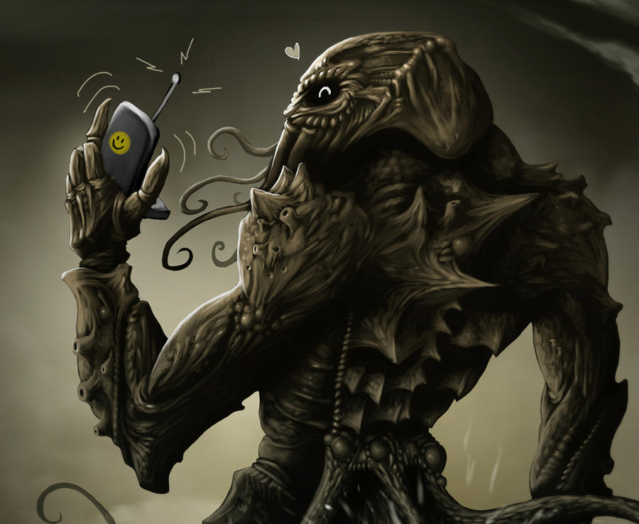 Cthulhu's cell phone by Cariman