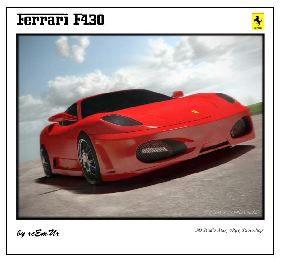 Cenário 3d Ferrari F430 Modelo 3d: Ferrari F430 By XcEmUx On DeviantART