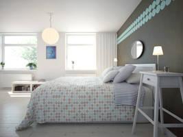 Swedish Bedroom by xcEmUx