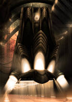 Gothic spaceship by Telmand