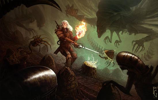 Geralt vs Aliens