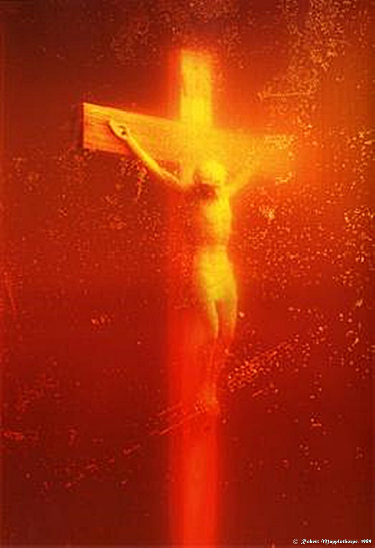 Piss Christ Mapplethorpe (1989) edited by count-herout