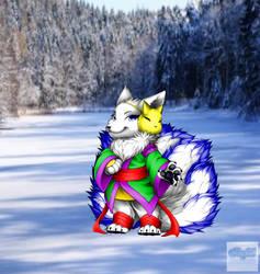 Snowfox (base from Furvilla Mythical Fox)