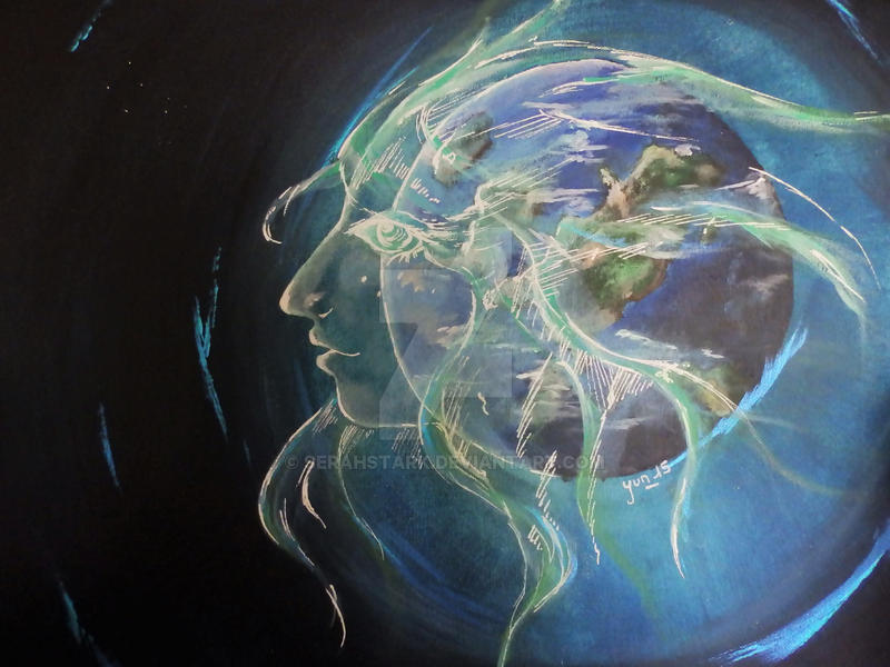 Gaia - Acrylic by SerahStark