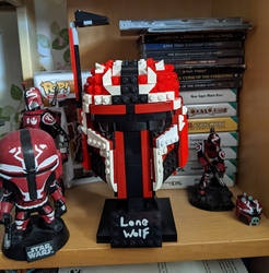 STAR WARS : LONE WOLF LEGO HELMET