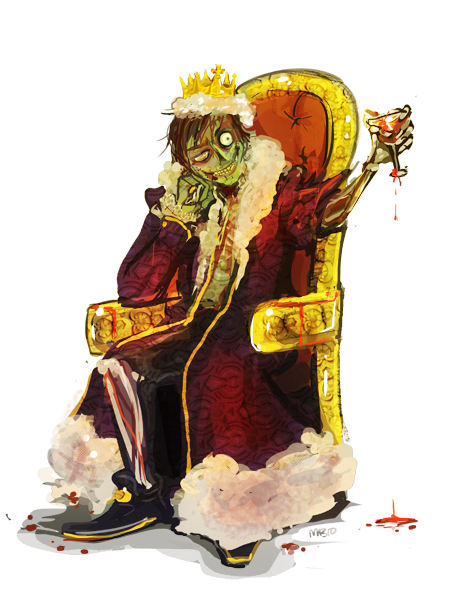 The Zombie King by MagicBunnyArt