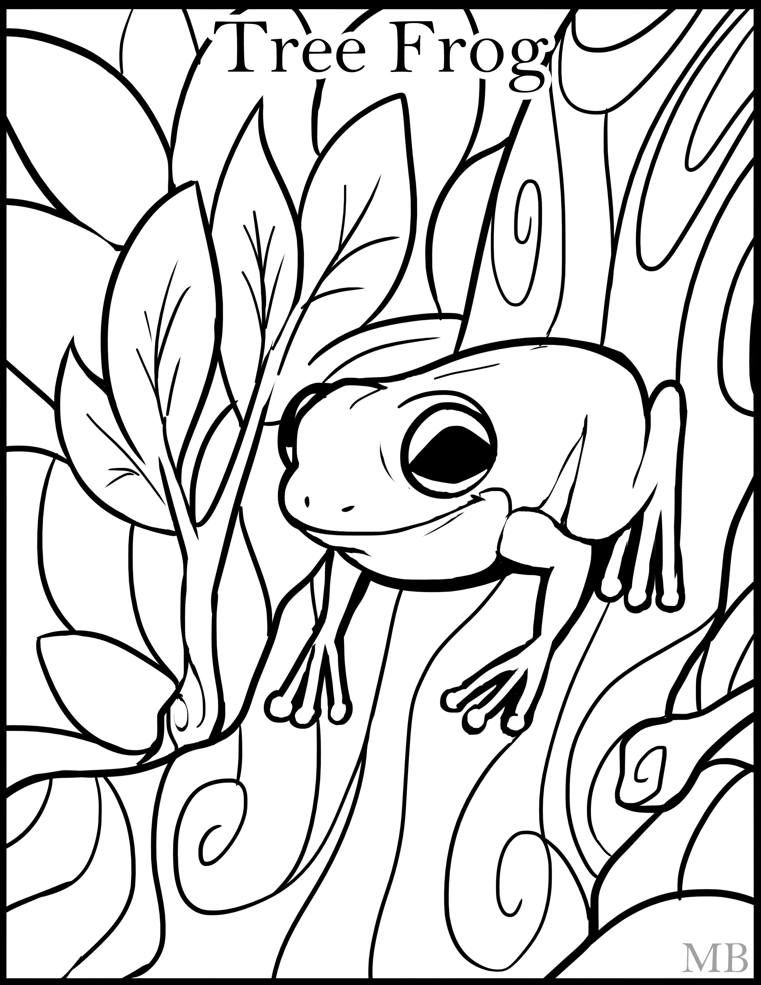 ColoringPage-Tree Frog by MagicBunnyArt on DeviantArt