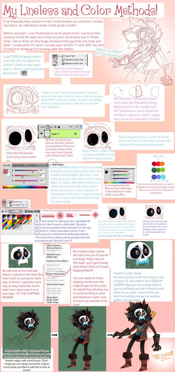 Lineless and Coloring Tutorial by MagicBunnyArt on DeviantArt