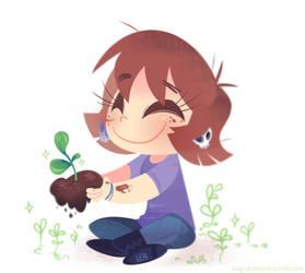 Gardening by MagicBunnyArt