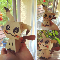 Mimikyu Papercraft by MagicBunnyArt