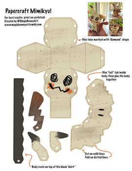 Mimikyu Papercraft Template