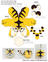 Beta Tiger Pokemon Papercraft Template