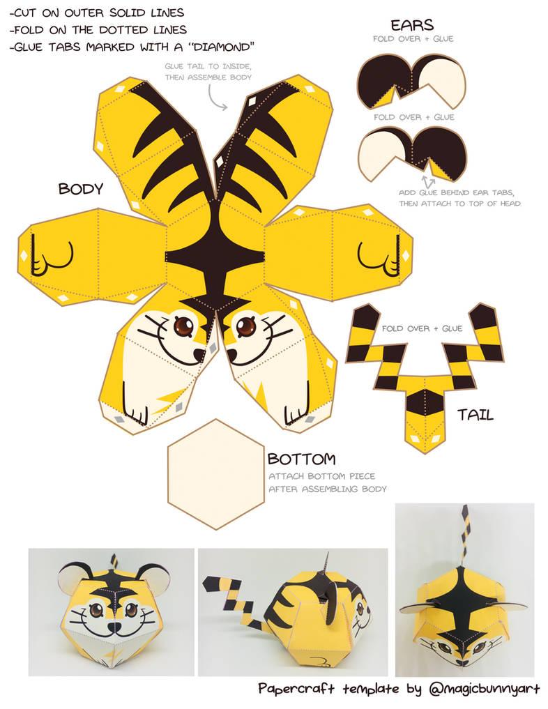 Beta Tiger Pokemon Papercraft Template By Magicbunnyart On Deviantart