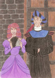Frollo and my friend. by LenaSegway