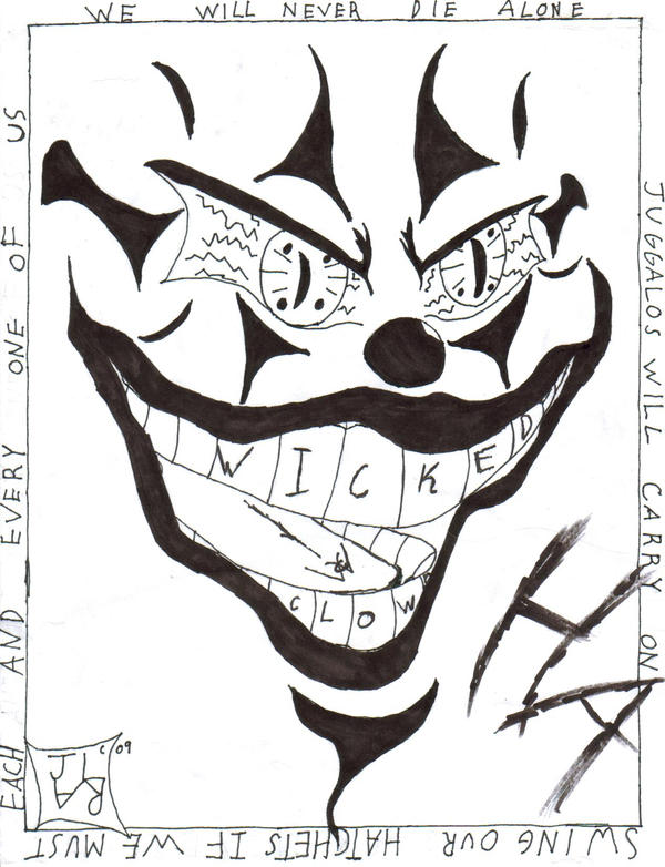 Wicked Clown By Advent Daemon On Deviantart Icp Coloring Pages