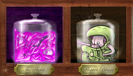 Uncle Hoofy Sasonax's Bottle Abominations (lost 2) by FLUMPCOMIX