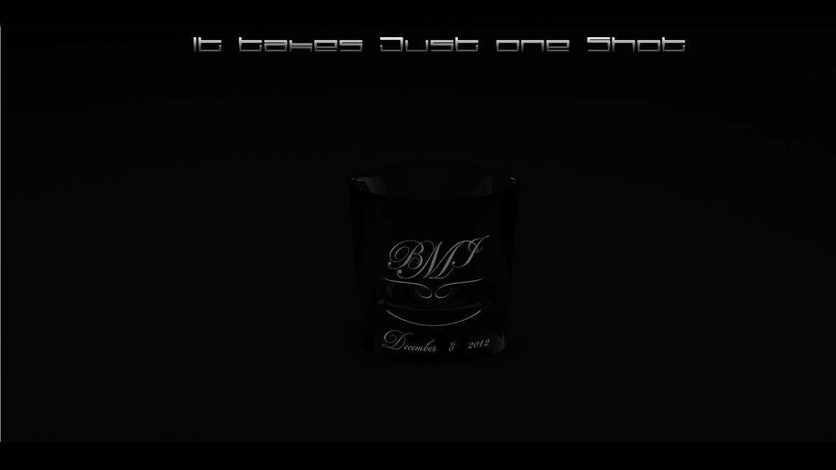 shot glass black by RenegadeGraphix