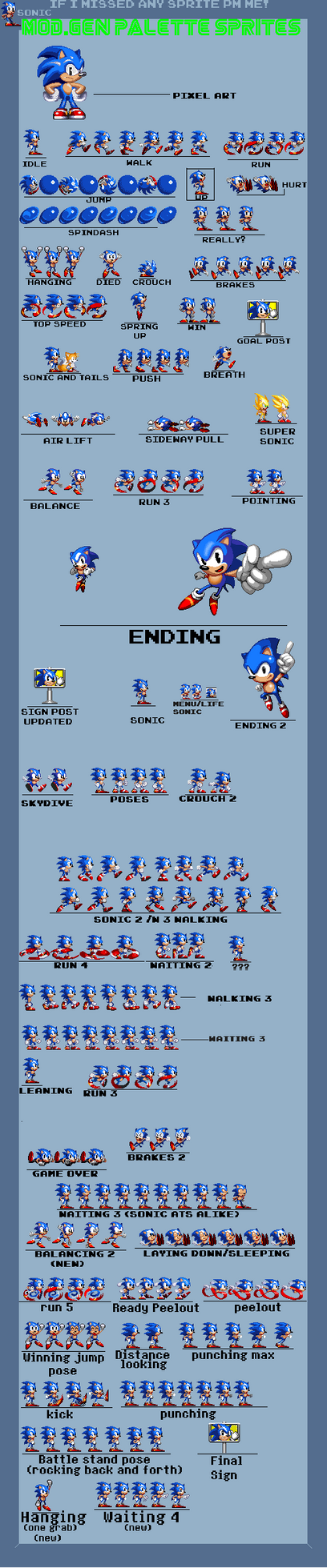Another update(Classic Sonic sheet) by supertailss