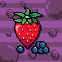 Strawberry and Blueberries by souptaels