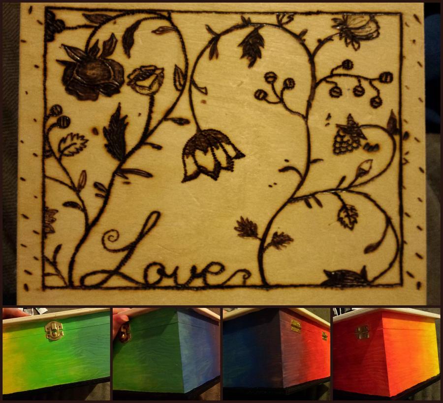 Pyrography Box by jessieiii