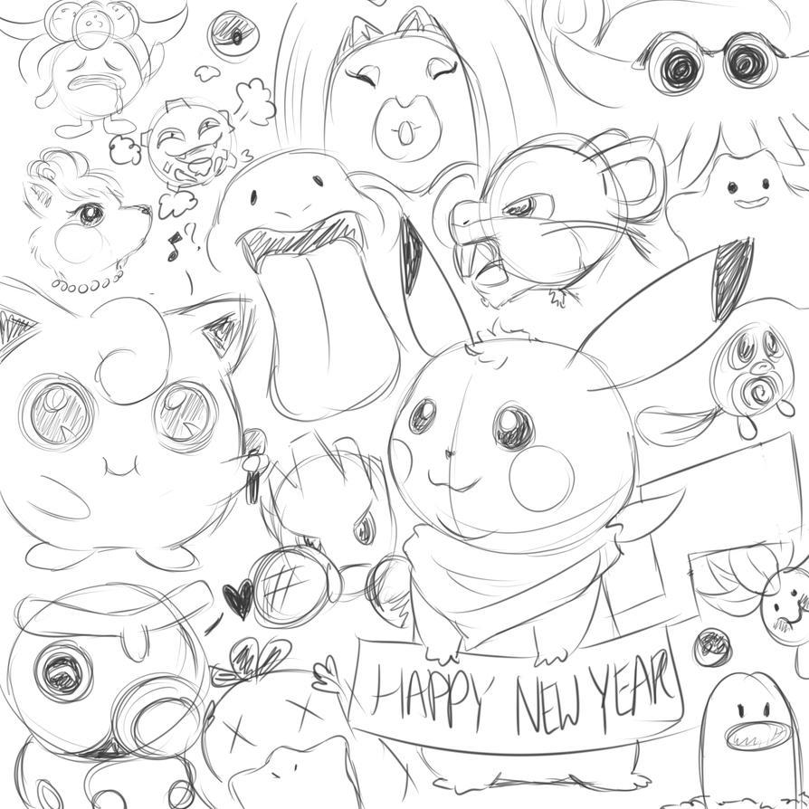 New Year Doodle by jessieiii