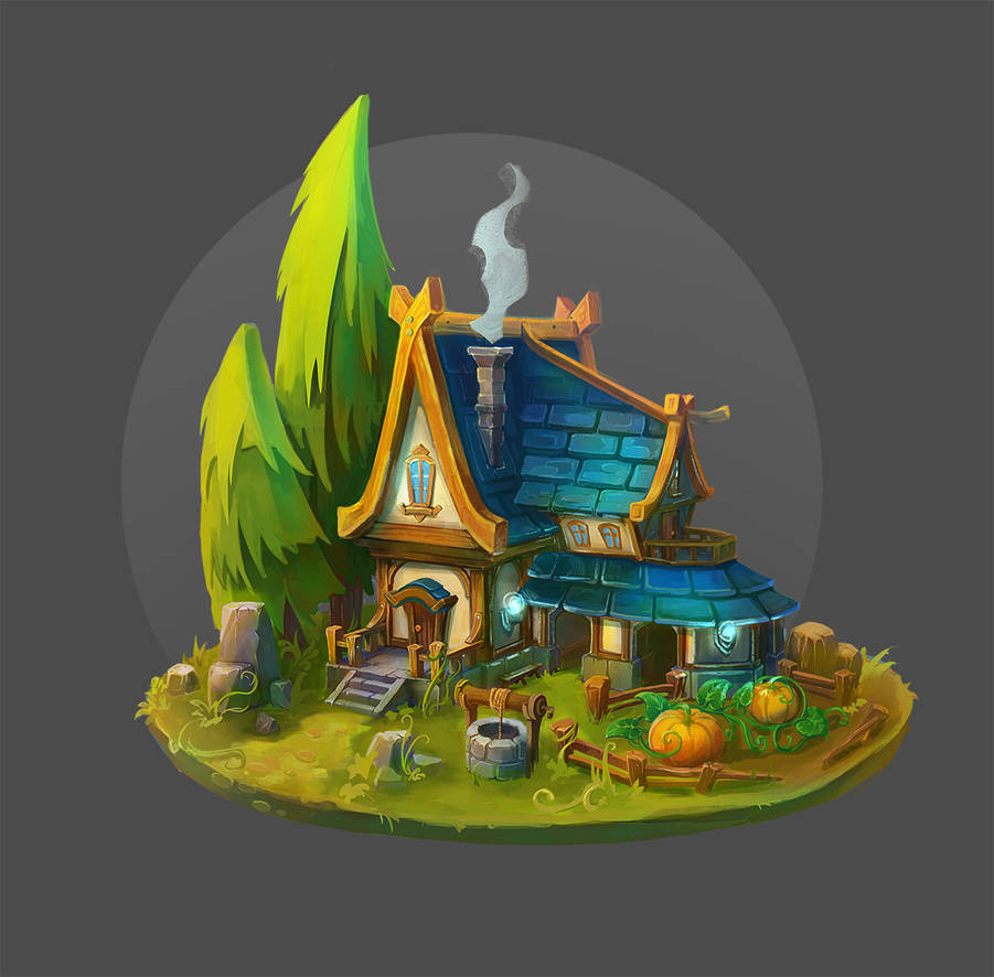 House in the forest by Kolosova-Art
