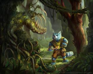 Melmee vs evil plant by Kolosova-Art