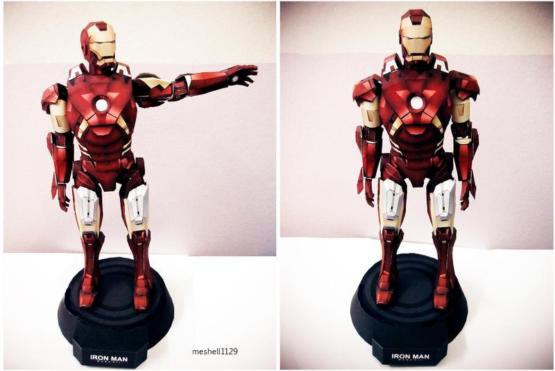 Iron Man Mark 7 Papercraft by meshell1129
