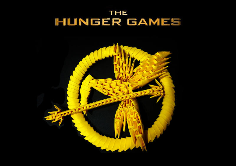 The Hunger Games Mockingjay Pin 3D Origami by meshell1129